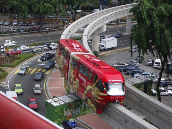 KL Monorail, elevated traversing.
